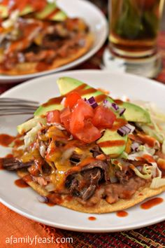 These easy Beef Tostadas are perfect for an easy family dinner - or a fun Cinco de Mayo fiesta!