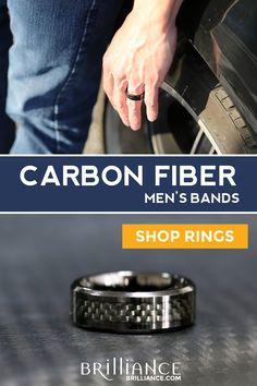 37 Best Carbon Fiber Men S Rings Images Carbon Fiber Men Rings