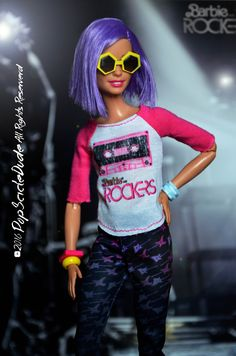 barbie fashionistas wearing fashion pack tribute of the barbie and the rockers