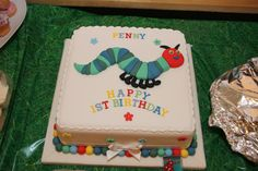 Happy First Birthday Penny. The Very Hungry Caterpillar Cake
