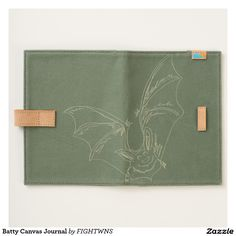 Shop Batty Canvas Journal created by FIGHTWNS. Journal, Wallet, Canvas, American, Store, Pocket Wallet, Tela, Tent, Larger