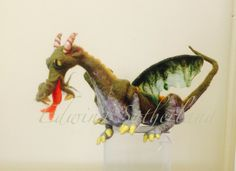 Needle felted dragon.
