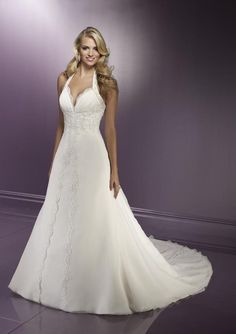 haulter wedding dresses | The Gorgeousness of Halter Neckline Wedding Dresses