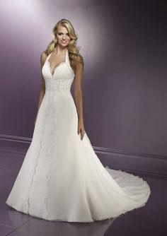 a line wedding dresses   one beautiful halter a line wedding dress discover as the