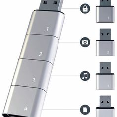 Sectional USB drive