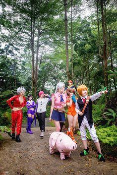 Nanatsu no Taizai - Merlin, Meliodas, Elizabeth, King, Diane, Ban, Gowther Cosplay Photo - Cure WorldCosplay