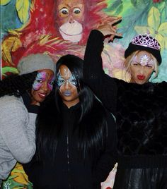 Beyonce Kelly and angie at Blue Ivy's 2nd birthday 2014- fun times!