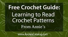 Learn to read crochet patterns...
