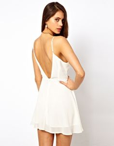Image 1 of True Decadence Skater Dress with Low Back