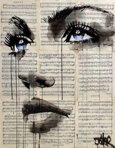 'remember' by Loui Jover Newspaper Painting, Newspaper Art, Collage Kunst, Illustration Mode, Funky Art, Abstract Portrait, Art Sketchbook, Face Art, Oeuvre D'art