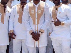African men clothing/African men outfit/african wedding suit/African men's shirt/ vêtement africain/ chemise africaine et pantalon. African Wedding Attire, African Attire, African Wear, African Dress, African Weddings, African Clothing For Men, African Shirts, African Print Fashion, Wedding Men