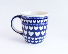 Traditional beautiful mug decorated with little hearts. For your Mom to drink tea, coffee or whatever she likes! :)