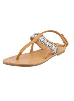 Shop Prima Donna - Sani T-Strap Sandals Light Tan at Prima donna