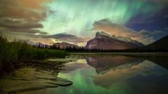Webshots - Mount Rundle, Vermillion Lakes, Banff N.P., Alberta  THIS WOULD BE A BEAUTIFUL LANDSCAPE QUILT...