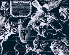 Zodiac map Constellation Astrology 129 by AstrologyZodiac on Etsy, $10.99