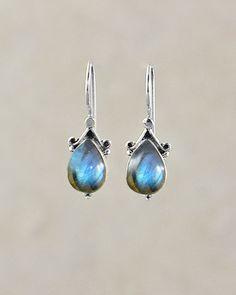 Mystery Love Labradorite Earrings in Sterling Silver | Sivalya