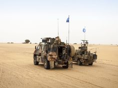 Members with the Dutch Maritime Special Operations Forces (MARSOF), as part of the Special Operations Land Task Group (SOLTG), patrolling the deserts of Northern Mali to collect information for the UN mission MINUSMA. July 2015.