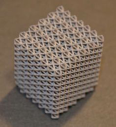 3D printed lattice cube by IK4 Lortek #3dPrintedShapes