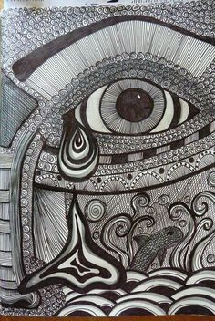 Zentangle Faces | Breathe!!: a few more zentangles and doodles..
