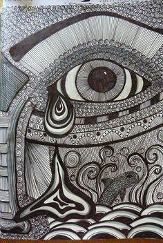 Zentangle Faces | Breathe!!: a few more zentangles and doodles..