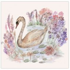'Swan Lake' greetings card designed by Claire Louise. www.clairelouise.eu