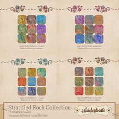 Stratified Rock Collection [SD_StratifiedRockColl] : CU Digitals, Commercial Use / CU Digital Scrapbooking elements, templates, overlays, actions, scripts and tools