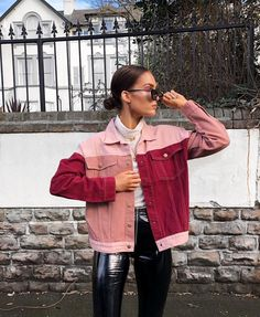 """29.3k Likes, 307 Comments - Alicia Roddy (@lissyroddyy) on Instagram: """"Sundays are my favourite. This patchwork pink and red denim from @missympire is my kinda jacket …"""""""