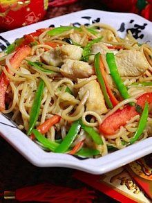Long Life Noodles with Chicken