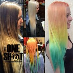 A BIG Thank You! For choosing my work for for your #BTCONESHOT Contest I'm truly honored & very excited! ❤️ If you create mermaid hair you might want to start hash tagging your art over there, the cut off date is ?!?!?!Hurry up all you beautiful mermaids! @behindthechair_com #btconeshot_transformation #btconeshot_rainbow #btconeshot_color #btconeshot_hairpaint #btconeshot_thelook #btcpics #behindthechair #btcapproved  #Toniroselarson
