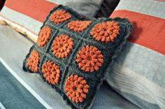 cojines granny square  lana,algodon crochet,granny square