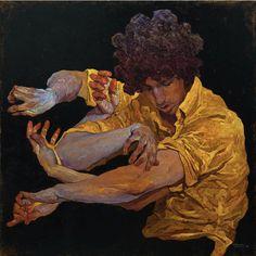 Denis Sarazhin, On my own.<br oil on canvas, 60 x 60 cm Kunst Inspo, Art Inspo, Figurative Kunst, Wow Art, Art Moderne, Art Graphique, Art And Illustration, Pretty Art, Art Plastique