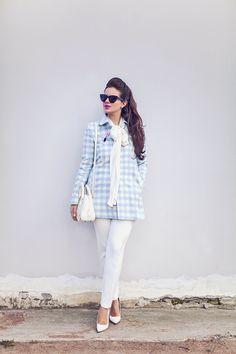 La Vita Mia: Gingham blue - Fashion Blog