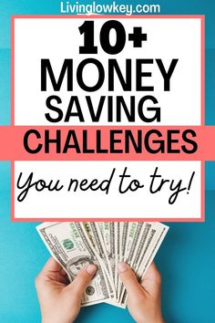 11 money saving challenges you must try today to jumpstart your savings. These easy savings challenges will save you hundreds in the next few weeks if you start now. These are some of the easiest money challenges I've taken and totally worth trying.
