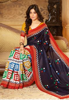 Avail huge discounts on dresses, clothing and apparels sale at Utsav Fashion. Buy women Indian outfits, mens wear and kids wear on huge discount at Utsav Fashion with customization facility. Art Silk Sarees, Silk Sarees Online, Brown Fashion, Indian Fashion, Saree Shopping, Blouse Online, Bollywood Fashion, Indian Sarees, Designer Wear
