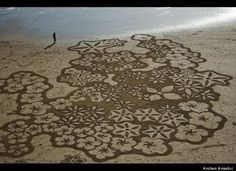"""""""Earthscape"""" art inspired by crop circles."""