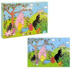 Een vrolijke Barbapapa puzzel van 36 stukjes.  #Barbapapa #Barbamama #puzzel #puzzels #puzzelen #peuter #kleuter #vrolijk