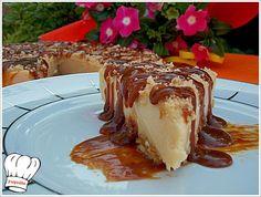 Σουπερ γλυκο ψυγειου με φανταστικη γευση φυστικι καραμελαπου θα σας ξετρελανει με την πρωτη κουταλια!!! Ιδανικο για καθε σας περισταση. <strong>Απολαυστε το..!!!</strong> Greek Sweets, Greek Desserts, Greek Recipes, Easy Desserts, Icebox Cake, Tart, Caramel, Cheesecake, Deserts