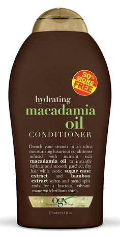 Ogx Conditioner Macadamia Oil Ounce Pack) 2 Pieces - Ounce Infused With Macadamia Oil, Sugar Cane & Bamboo Extract Leaves Hair Soft, Supple And Touchable Bathes Dry, Brittle Hair With Moisture Mends Split Ends Organix Shampoo, Hair Shampoo, Natural Hair Treatments, Macadamia Oil, Brittle Hair, Oily Hair, Hair Conditioner, Up Hairstyles, Hair Care