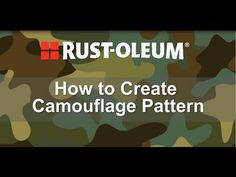 You can paint a custom camo pattern on just about anything with Rust-Oleum's Camouflage Spray Paint. This spray paint is made specifically for the camouflage effect and comes in six authentic camo colors, so you can get the exact look you want. Camo Spray Paint, How To Paint Camo, Krylon Spray Paint, Spray Paint Stencils, Stencil Painting, Spray Painting, Camouflage Room, Hunting Camouflage, Camouflage Patterns