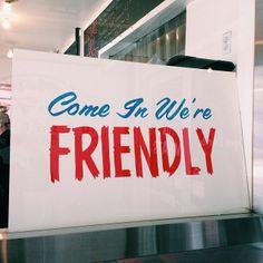 Friendly.
