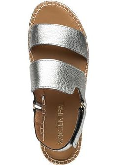 275 Central - Moss Silver Leather Espadrille Sandal