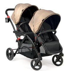 Double Stroller Car Seat Combo Baby Infant Travel Systems Tandem Twin Carriage  #DoubleStroller