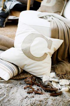 Letter C cushion 50x50cm
