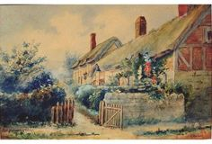 Ann Hathaway's Cottage, Stratford Country Living Magazine, All Art, Ann, Country Cottages, Photoshoot, Watercolor, Display, Portrait, The Originals