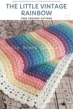 Crochet Baby Blanket Free Pattern, Crochet Afghans, Afghan Crochet Patterns, Easy Crochet, Free Crochet, Simple Crochet Blanket, Crochet Baby Stuff, Knitting Patterns, Crochet Blanket Edging