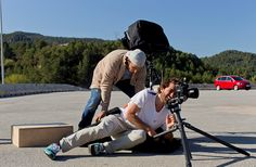 Der #Fotograf legte sich mächtig ins Zeug und auf die Seite. (Foto: Rolf Klatt)