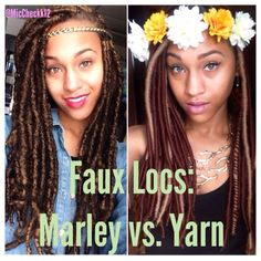 Faux locs. Marley locs vs Yarn locs.  IG: @Miccheckk12