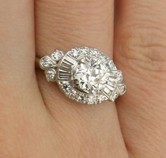 Gorgeous1.75cttw Old Mine Cut Diamond Halo by diamondmastersuscoin, $9565.00