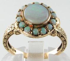 DIVINE 9K VICTORIAN AUSTRALIAN OPAL LOCKET/POISON RING. Nothing cooler than a poison ring.