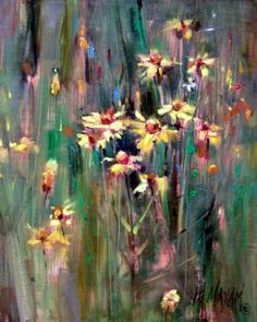 Season Of Gold-wildflower oil painting, painting by artist Mary Maxam